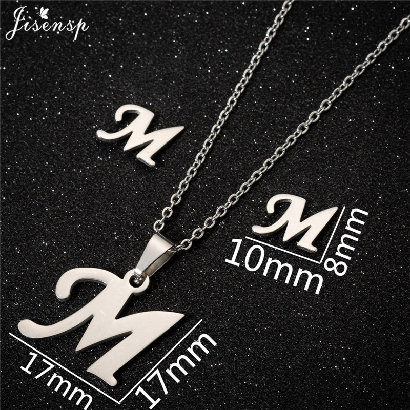 Jisensp Personalized A-Z Letter Alphabet Pendant Necklace Gold Chain Initial Necklaces Charms for Women Jewelry Dropshipping 26