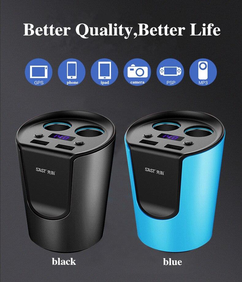 Car charger phone universal smart fuse circuit breaker