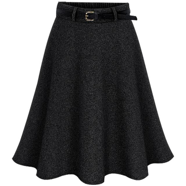 Плюс размер женщина юбка империя формальные Линии faldas шерстяная ткань юбки костюм для большой размер 6XL