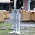 DEE MOONLY Tamanho Grande Calças Dos Homens Casuais Da Marca 2017 Novo primavera de Algodão Vestido de Corpo Inteiro Calças Retas Masculinos Zipper Chino calças