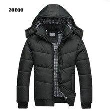 ZOEQO Peak Hooded Parka Jacket Men Winter &autumn Jacket New Arrival Casual Slim Cotton coat Casaco Masculino M-4XL