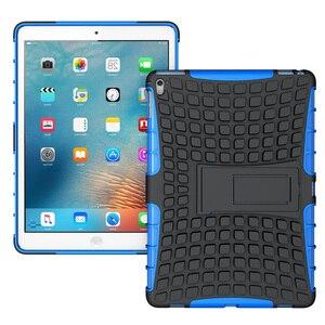 Image 2 - À prova de choque caso protetor armadura capa para i pad mini 1/2/3/ 4 ar 2 pro 9.7 novo um