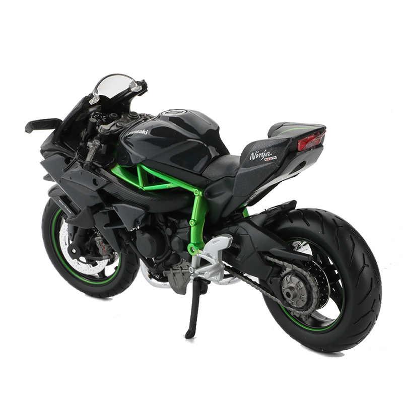 Maisto 1:12 Sepeda Motor Model Mainan Paduan Ninja H2R Balap Sepeda Motor Koleksi Mobil Mainan untuk Anak Laki-laki Hadiah Natal