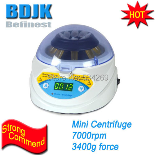 MINI-7K 7000rpm Digital Mini Centrifuge with 3400g Centrifugal Force Laboratory and Medical Equipment 80 1 electric experimental centrifuge medical lab centrifuge laboratory lab supplies medical practice 4000 rpm 20 ml x 6