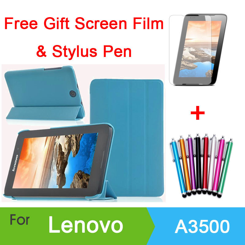 buy online 73971 f9dc9 US $7.59  Case Cover For Lenovo A3500 Case Tablet Lenovo A7 50 A3500 7 inch  Tablet Cover Case +Screen Protector Film+ Stylus-in Tablets & e-Books Case  ...