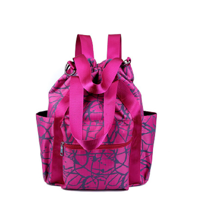 Ms with drawstring backpack fashion travel backpack woman light leisure travel bag with multi-function bag