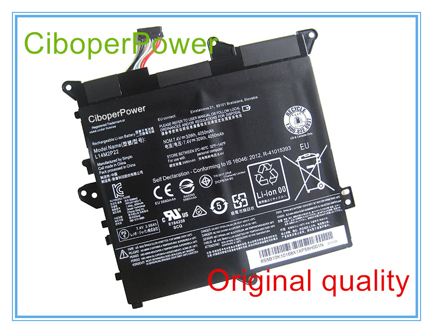 Original Battery For L14M2P22 Battery For 3 Series Laptop 80LX