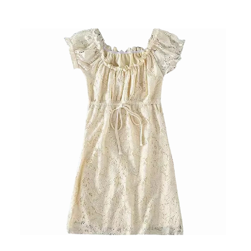 Summer dress 2020 vintage boho casual lace dress elegant mini sexy club bow tie tunic off shoulder ruffle dress vestidos 1
