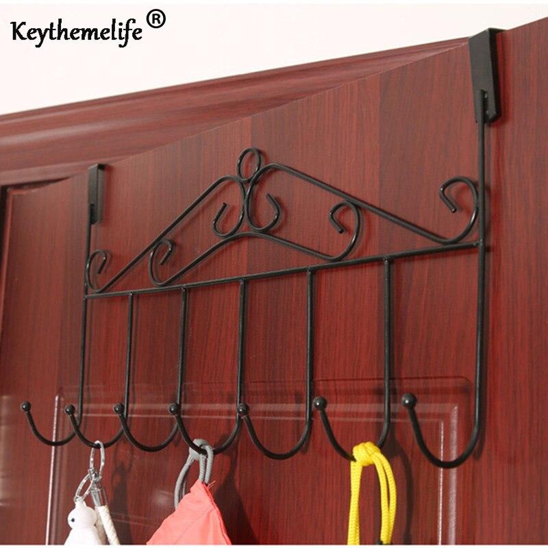 Kitchen Bedroom Cabinet Door Hooks Towel Clothes Pothook Hooks Retro Metal Clothes  Hanger Holder S