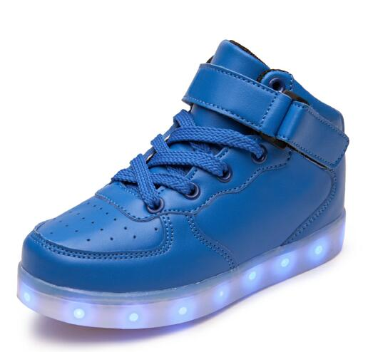 2017 children lights up led luminous sneakers high top glowing shoes boy girl simulation sole USB charge boots kids basket shoes glowing sneakers usb charging shoes lights up colorful led kids luminous sneakers glowing sneakers black led shoes for boys