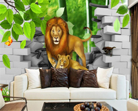 Custom High Level Wallpaper 3D Cartoon Children S Room Background Wall Murals Child House Murals Papel
