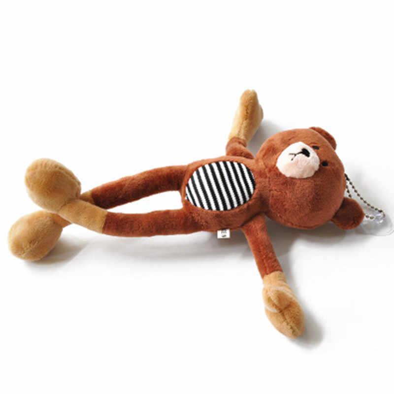 Moda Teddy Bear Boneca de Pelúcia Saco Encantos Chaveiro Anel Keychain Mulher Faux Fur Pompom Brinquedo Do Carro Chaveiro Presente Do Partido bugiganga Homem