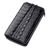 100% brand genuine alligator crocodile belly skin leather long size men clutch Doka Position and hand holder Wallet