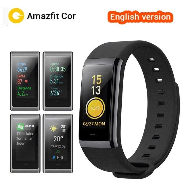 [Английская версия] Xiaomi Amazfit Cor смарт часы Midong смарт-браслет Цвет IPS Экран сердечного ритма Мониторы Фитнес трекер Водонепроницаемый 50 м