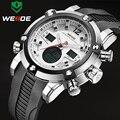 Marca de Lujo WEIDE Hombres Deportes Relojes del Cuarzo de Los Hombres LED Digital Reloj Militar Ejército Impermeable Relogio masculino
