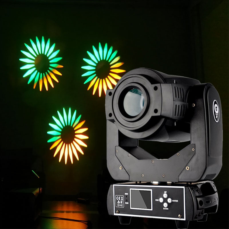 90W LED Moving Head Spot Gobo Light 90W LED Gobo Pattern RGBW 4in1 LED DMX Spot Moving Head Light For DJ Disco Party Event Stage
