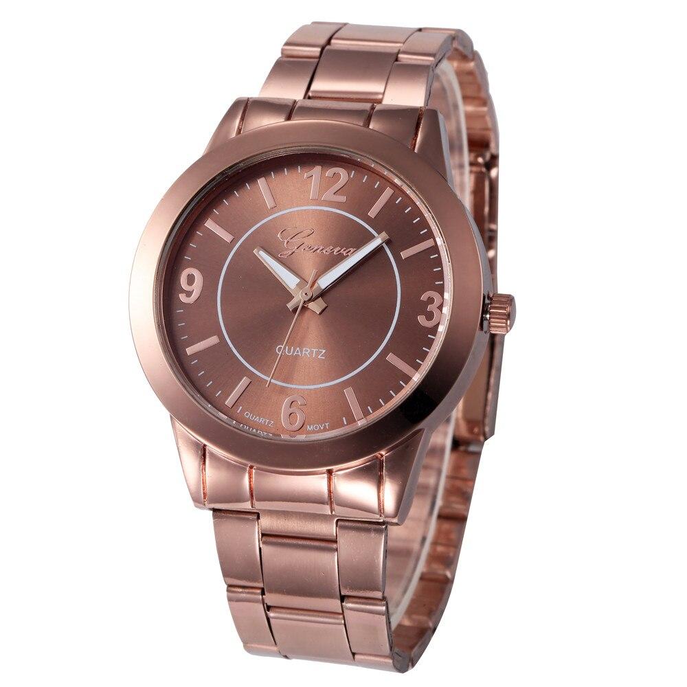 Relogio masculino де luxo женские часы фирменные часы 2016 Из Нержавеющей Стали Спортивные Кварцевые Часы Наручные Аналоговые Часы бизнес-часы