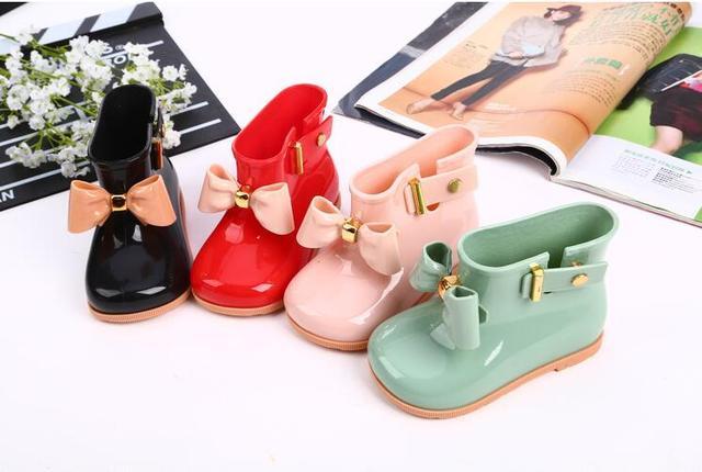 La MaxPa Su Geçirmez Kız Çizmeler Bebek çocuk yağmur çizmeleri Jöle Ayakkabı çocuk ayakkabıları Şeker Renk Kaymaz Yağmur Botları