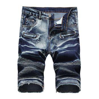 Hot style Summer High street denim shorts men Jeans punk short homme cowboy shorts mens Stretch Big size Casual short hombre 1