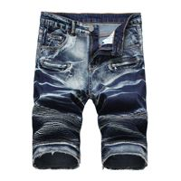Hot style Summer High street denim shorts men Jeans punk short homme cowboy shorts mens Stretch Big size Casual short hombre