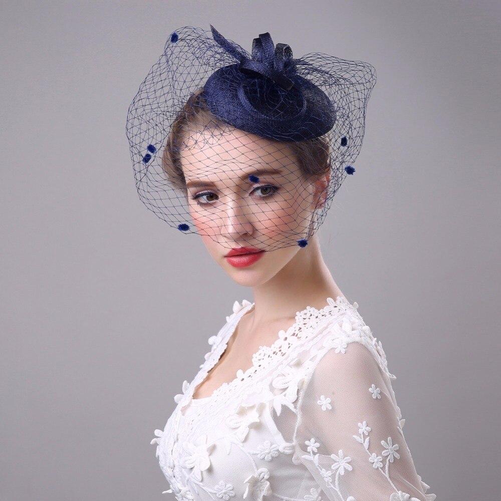 Vintage Wedding Hairstyles With Birdcage Veil: 2017 Vintage Wedding Hats Bridal Hat Birdcage Veil Hair
