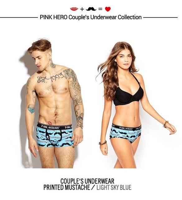 fe9124c38218 New 2017 Pink Hero Brand Boxer Shorts Couples Underwear Set Male Fashion  Print Cotton Boxer Girls Underwear,Women Underwear Set
