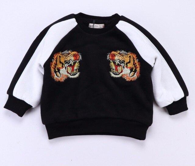 2017 весна осень новый мальчик одежды ребенка девушка одежда дети 3d тигр толстовки моды топы vetement enfant гарсон fille kikiki