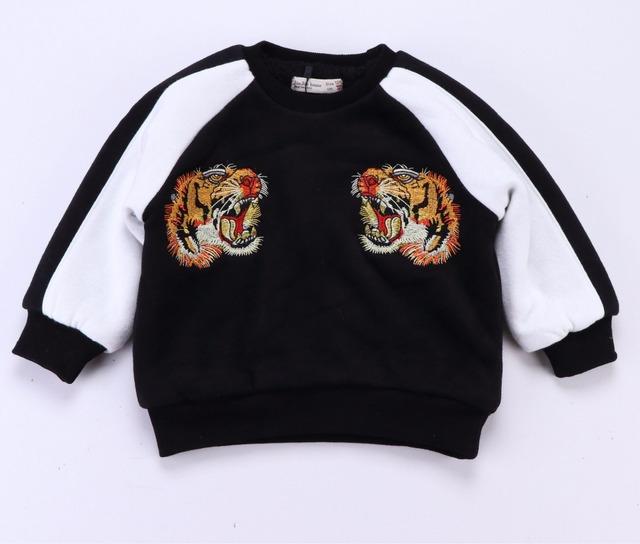 2017 primavera outono novas roupas de bebê menino menina roupa do bebê crianças tigre 3d hoodies tops de moda vetement garcon enfant fille kikiki