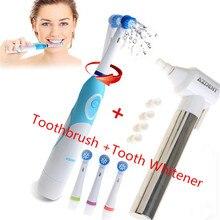 1 Set AZDENT Électrique Brosse À Dents avec 4 Têtes de Brosse Dent Blanchissant Dents Brunissoir Polisseuse Oral Care brosse à Dents