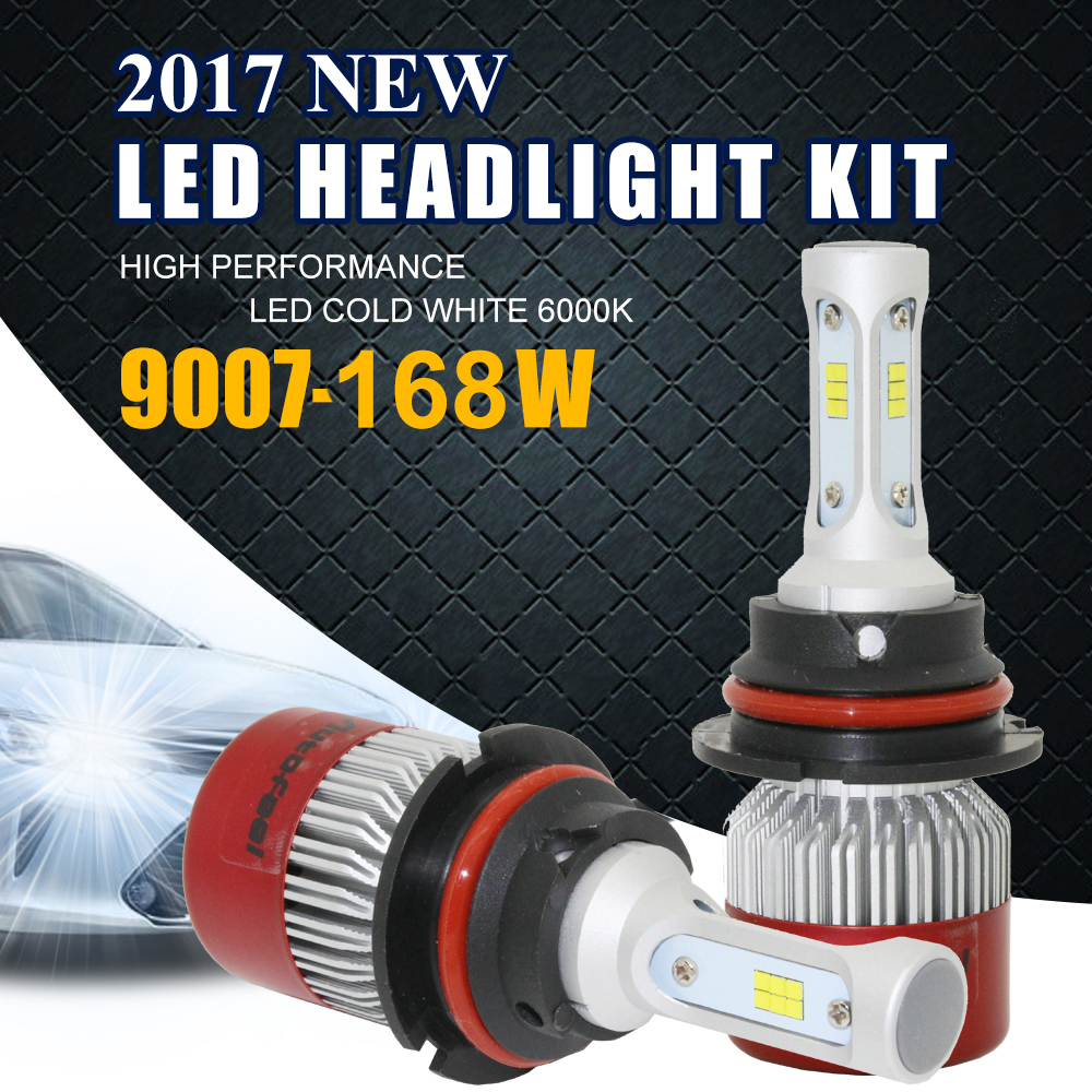 Autofeel LED Auto Headlamp 9007 HB5 Plug Hi Low Beam 84W 8000LM 6500K Automobiles LED Headlights