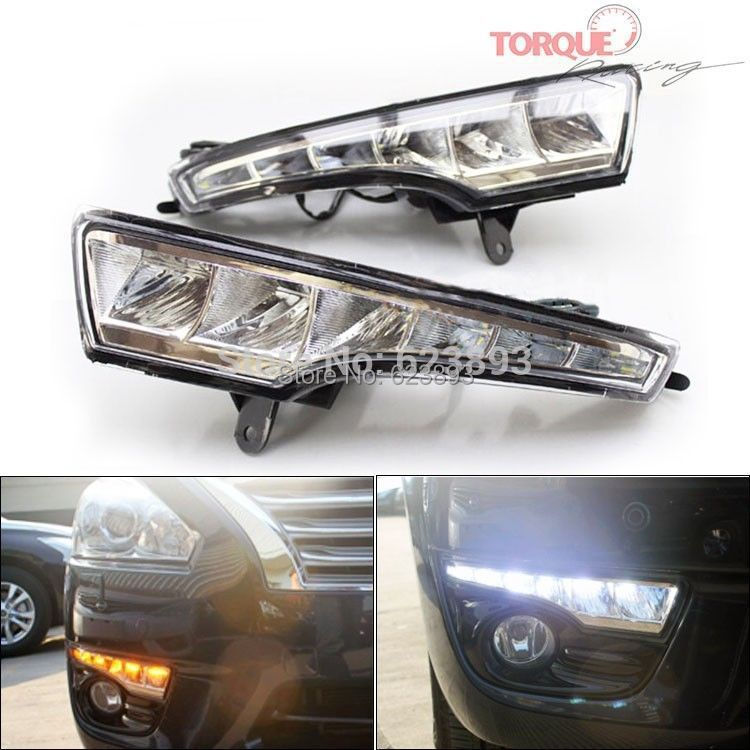 Free Shipping2x Power LED DRL Daytime Running Light Turn Lights Fog Lamp For Teana Altima 2013 2014 In Car Assembly From Automobiles Motorcycles On