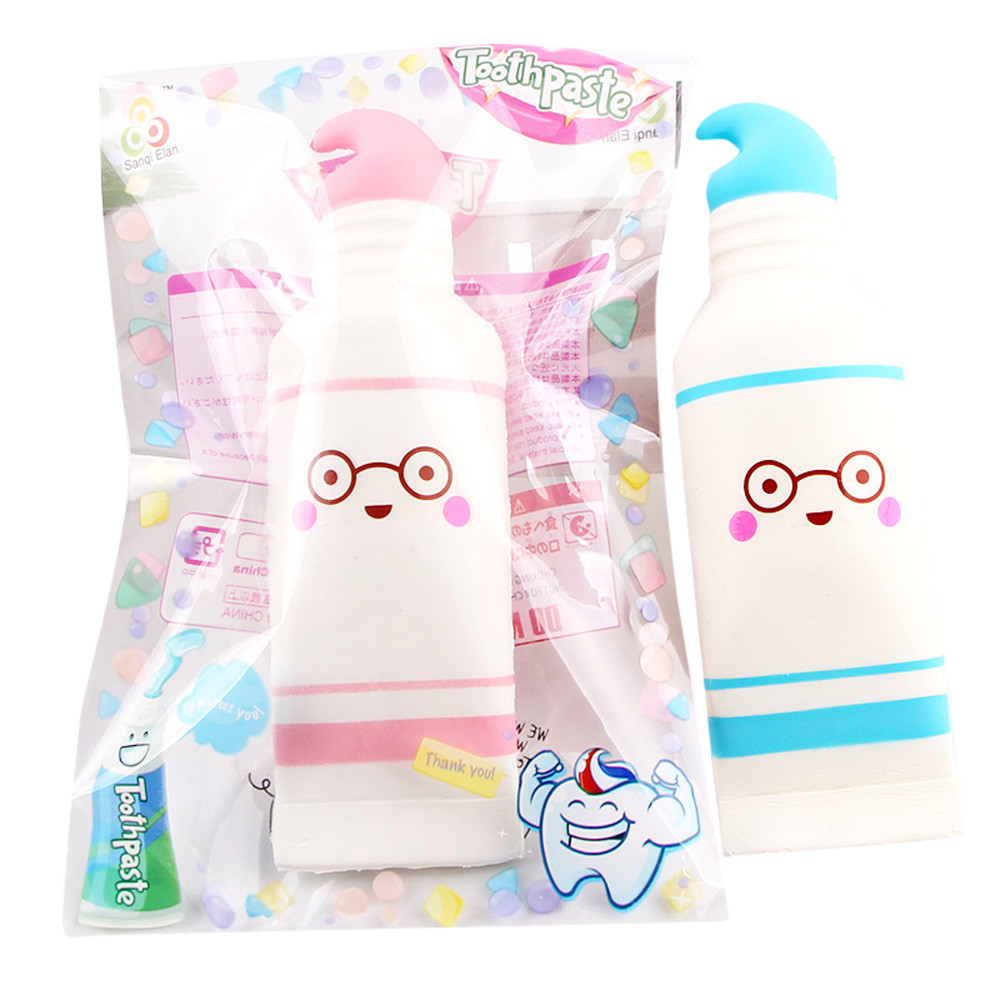 New Cartoon Cute Toothpaste Squishy Squeeze Stress Reliever Cartoon Cute Toothpaste Scented Slow Rising Toy