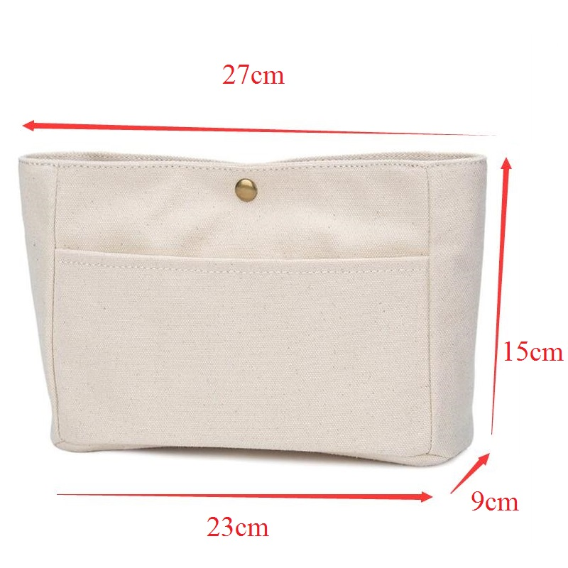 Купить с кэшбэком Canvas Purse Organizer Bag Small Cosmetic Bag Sturdy Purse Insert Organizer Bag in Bags
