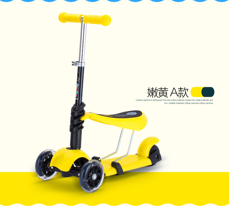 Outdoor Children flash Wheels swing Bike Car Scooter sport Toys Kid baby seat Slide Ride On child Toy Adjustable height infant shining swing car mute flash belting leather music environmental quality children s toy car