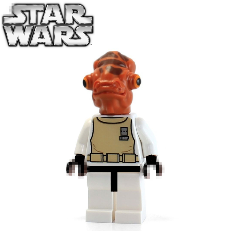 singlesale star wars rebels admiral ackbar with lightsaber sw247 minifigures assemble model building blocks kids learning toys
