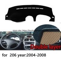 For Peugeot 206 207 307 Double Layer Silica Gel Car Dashboard Pad Instrument Platform Desk Avoid