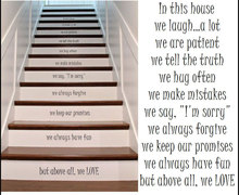 New Design Modern Stair Riser Stickers In THis House Rules Quote Vinyl Home Decor High Quality Cut Transfer Sticker Mural H535