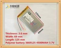 3.7 В 3669125 4500 мАч PLIB (полимер литий-ионный аккумулятор) литий-ионный аккумулятор для планшетных ПК Цифровая фоторамка power bank