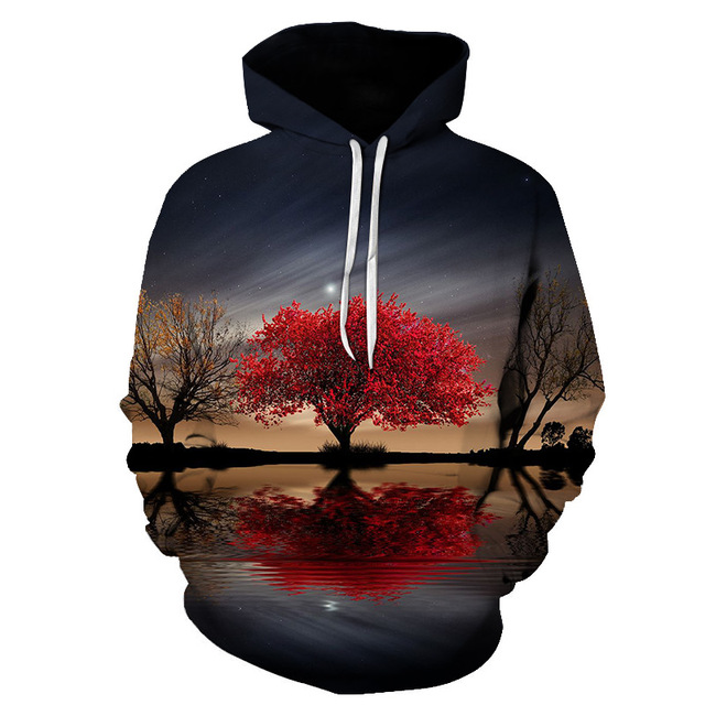 New brand hoodie streetwear hip-hop landscape harajuku hoodies men's and women's hoodies and s-6xl sweatshirts for 2018 Lady 2