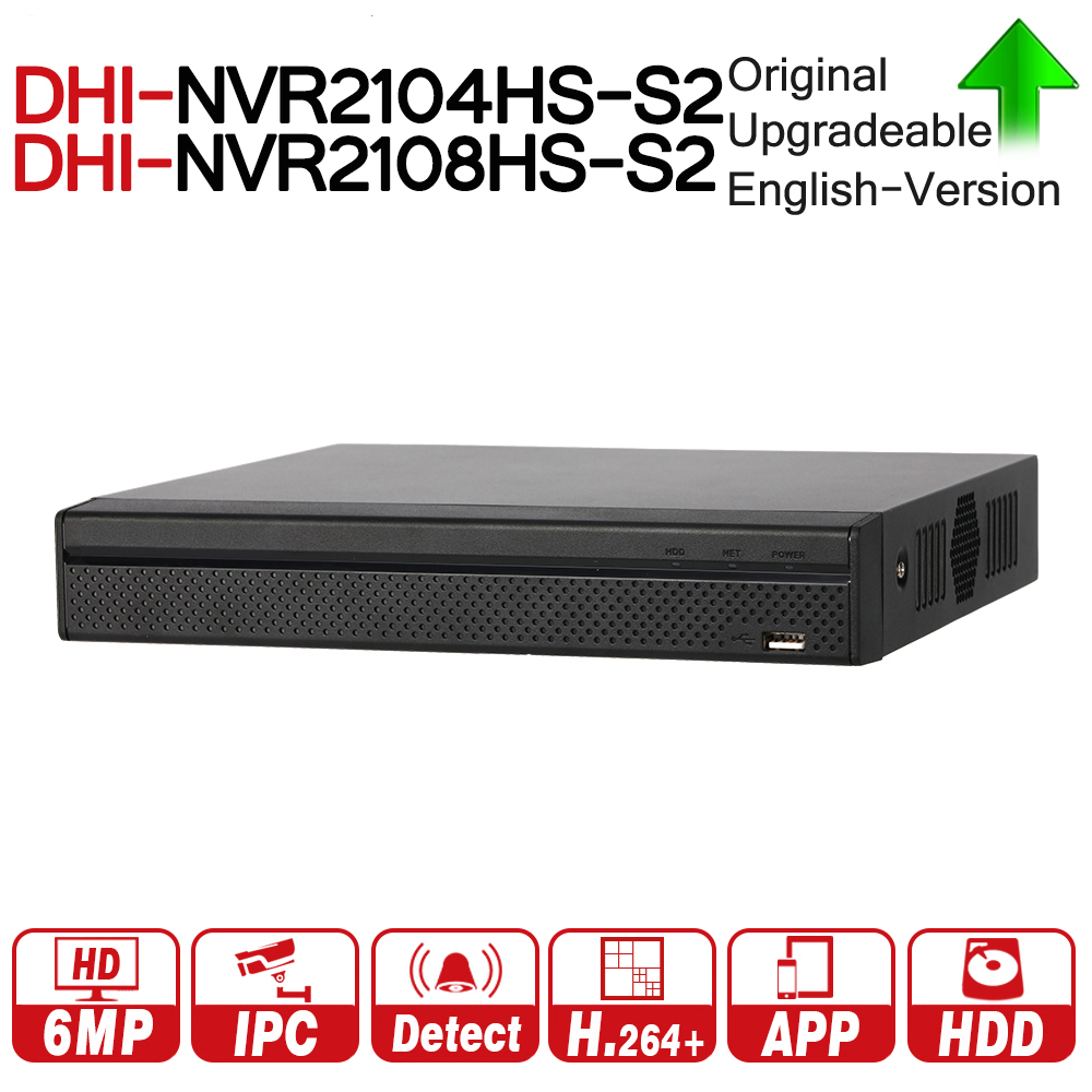 цена на DH NVR2104HS-S2 NVR2108HS-S2 4/8 Channel Compact 1U Lite Network Video Recorder With SATA Interface Support H264+ IP Camera