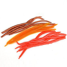 WLDSLURE 30pcs 13.5cm earthworm plastic lures Synthetic Fishing Silicone Lures For Fishing Delicate Bait Worm Carp Fishing Deal with