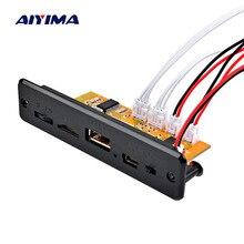 AIYIMA płyta dekodera MP3 5V bezprzewodowy zestaw słuchawkowy Bluetooth 5.0 moc dźwięku wzmacniacz MP3 odtwarzacz samochodowy sprzęt audio USB TF Radio FM