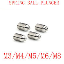 10PCS metric thread M3 M4 M5 M6 M8 Stainless Steel spring Ball Plunger screw(China)