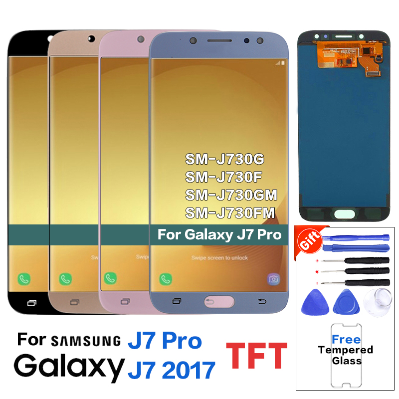 For Samsung Galaxy <font><b>J7</b></font> <font><b>Pro</b></font> 2017 J730F <font><b>LCD</b></font> Display Touch <font><b>Screen</b></font> Digitizer For Galaxy <font><b>J7</b></font> <font><b>Pro</b></font> 2017 J730 <font><b>LCD</b></font> <font><b>Screen</b></font> <font><b>Replacement</b></font>+Tools image