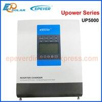 EPever 5000VA чистая синусоида гибридный инвертор MPPT 60A80A100A солнечный зарядное устройство и 30A AC в одном для 48 В батарея 220 230VAC