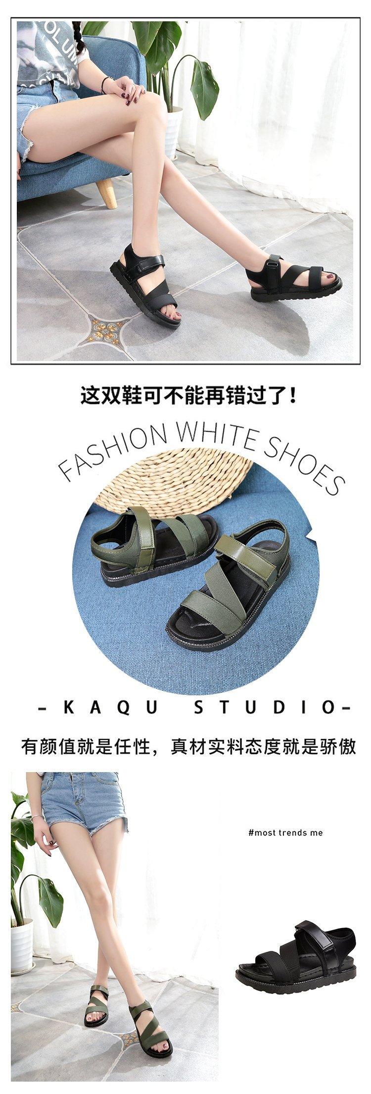 Summer Sandalias Mujer 2019 Shoes Woman Classics Gladiator Hook Loop Sandals Women Shoes Casual Flat Platform Block Heel Shoes 9