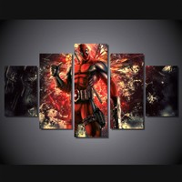 HD Printed deadpool comic Painting on canvas room decoration print poster picture canvas unframed
