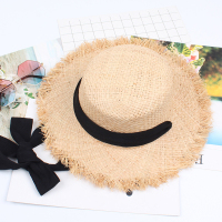 8bf15ea792 Women Straw Cap Sunshade Flat Hat Fashion Summer Folding Beach Hat Travel  Beach Ribbon Beach Hat. US $17.88 US $10.55. Mulheres Palha Cap Sombrinha  Chapéu ...