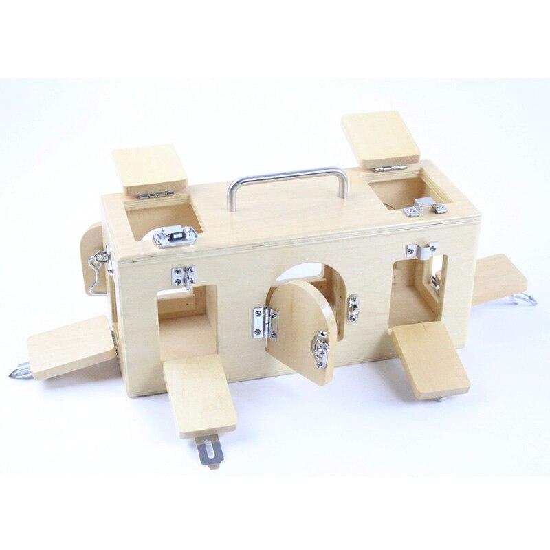 Montessori enfants jouet bébé bois serrure boîte mémoire jeu apprentissage éducatif préscolaire formation Brinquedos Juguets - 3
