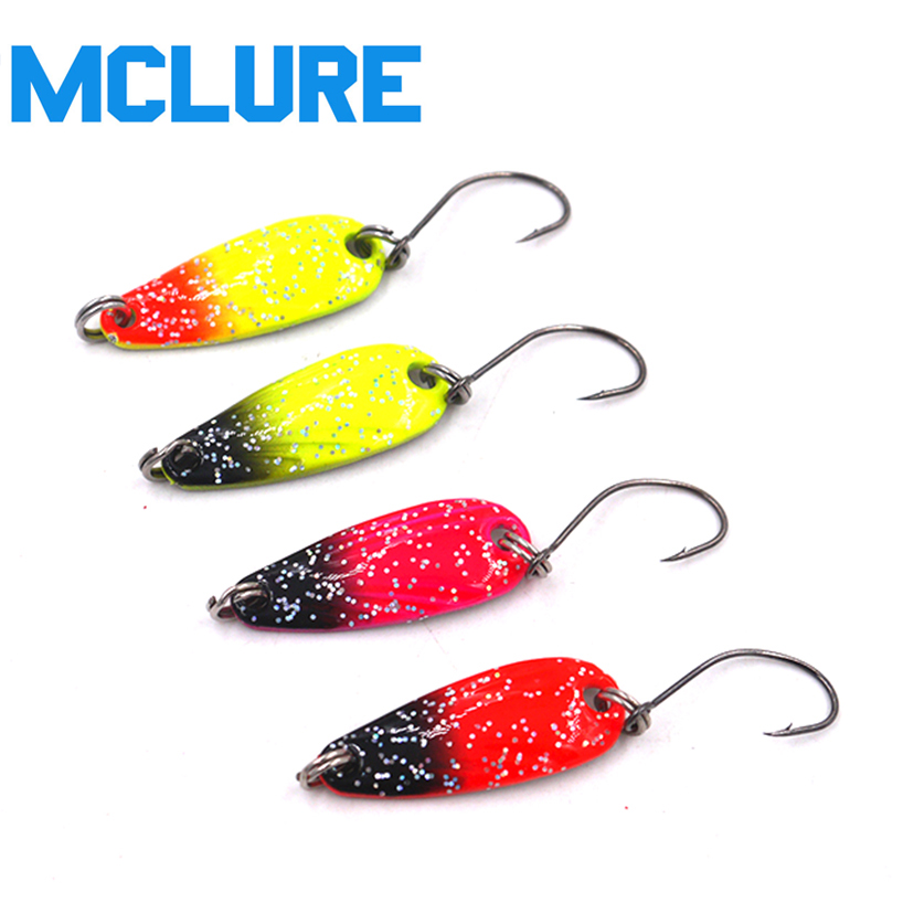 MC&LURE 4PCS/pack spoon lure metal bait hard fishing lure 2.5g Metal Jigging Lure Baits 1pcs spoon fishing lure 10cm 17g hard fishing spoon lure metal jigging lure baits spinner bait carp fishing tackle